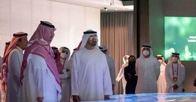 Abu Dhabi Crown Prince Visits Saudi Pavilion at Expo 2020 Dubai