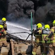 Fire at an Oil Waste Disposal Unit in Jebel Ali in Dubai Under Control